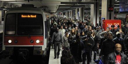 RER B, Paris Gare du Nord, train, SNCF, banlieues, transport en commun,