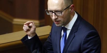 Le permier ministre ukrainien Arseny Yatseniuk