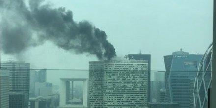 Incendie à La Défense