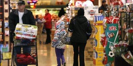 Premiere baisse en sept mois des prix a la consommation aux usa