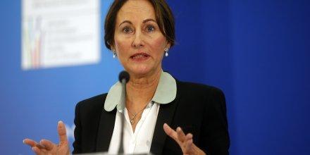 La ministre de l'Ecologie et du Développement durable Ségolène Royal lors d'une conférence sur la loi de transition énergétique le 18 juin 2014
