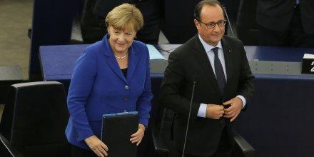 Francois hollande et angela merkel plaident pour un renforcement de l'europe