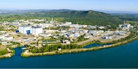 Photo aérienne du site du CEA Marcoule