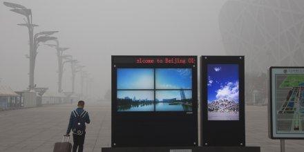 pollution, Pékin, ville, atmosphérique, air, aérienne, cité, smart city, délinquance, sécurité, démographie, surpopulation, géographie, mégapole, Chine, 2015.12.01,