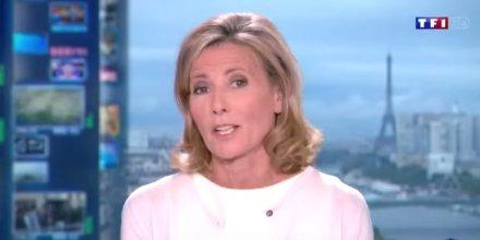 Claire Chazal présente un JT de TF1