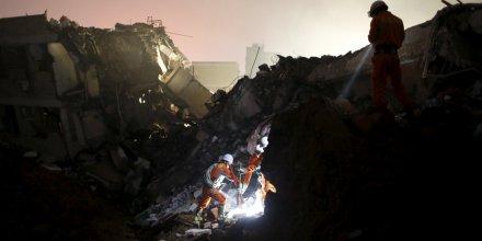 Glissement de terrain a shenzhen dans le sud de la chine