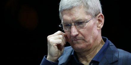 Le CEO d'Apple Tim Cook en octobre 2014