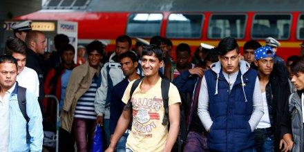 Arrivée réfugiés