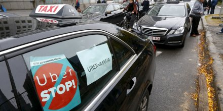 Manifestation contre Uber
