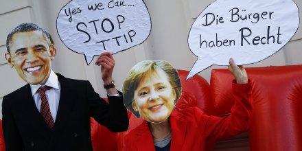 Merkel, TTIP, Obama, Tafta, traité de libre-échange entre l'Union européenne et les Etats-Unis,