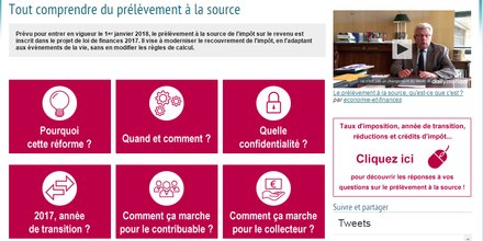 Capture d'écran du site prelevementalasource.gouv.fr