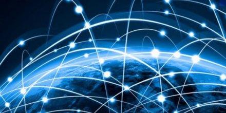 Blockchain, Internet, planète  numérique,