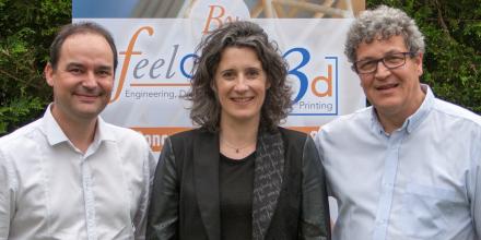 Les trois associés de FeelObject 3D