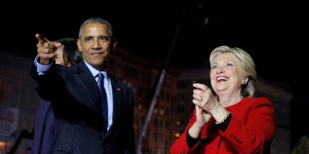 Obama et clinton appellent a l'unite derriere une presidence de trump