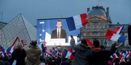 Macron, Louvre, résultats, discours