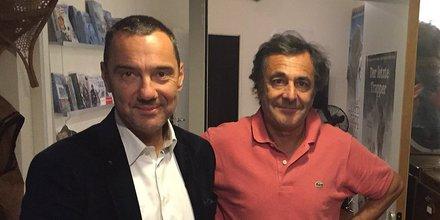 Olivier Giorgiucci (FRTP Occitanie) et l'explorateur Nicolas Vanier, grand témoin de ces Assises 2017