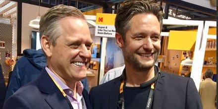 Kodak CEO Jeff Clarke Wenn Digital CEO Jan Denecke