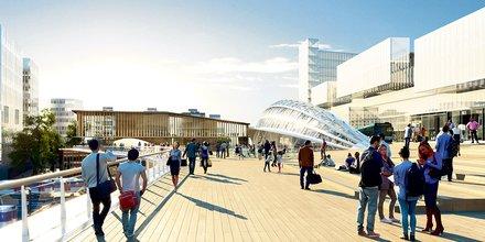 Saint-Denis, pont, Grand Paris Express, gare RER D,