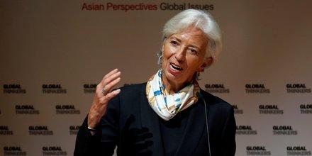 Lagarde optimiste sur la croissance, redoute le protectionnisme
