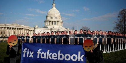 Avaaz, ONG, pétitions citoyennes, Washington, Capitole, Zuckerberg, Facebook, Cambridge Analytica, vie privée, données personnelles, manipulation politique, publicité, réseau social, Congrès des Etats-Unis, convocation,