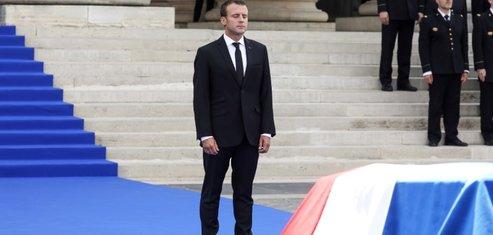 Macron salue la memoire de simone veil, une boussole pour la france