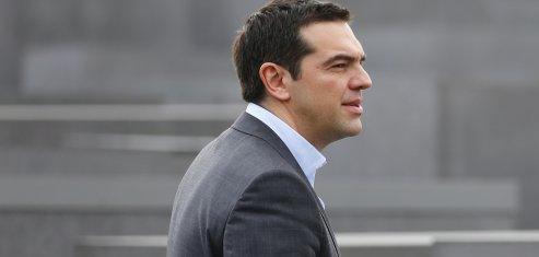 Tsipras Alexis visite le Mémorial de l'Holocauste, à Berlin le mardi 24 mars 2015.