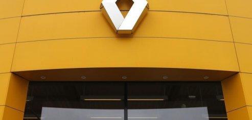 Renault dans le rouge a la mi-seance