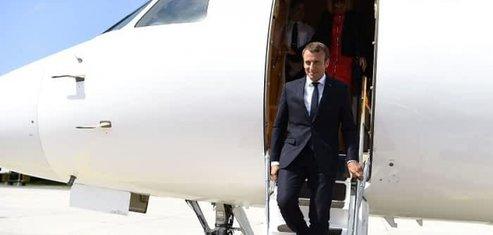 Emmanuel Macron ETEC A319neo