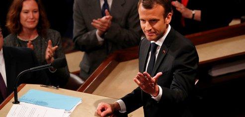 Emmanuel Macron devant le Congrès américain