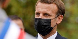 France: macron dans les alpes-maritimes a la rencontre des sinistres