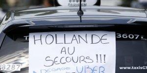 Taxis grèves taxi 2015.06.25 Paris Uber UberPop uberpop