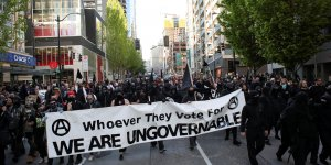 Seattle, manifestation, anticapitaliste,