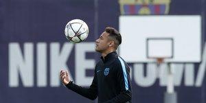 Le footballeur brésilien du FC Barcelone Neymar en avril 2016