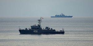 Bateau militaire russe Mer Noire