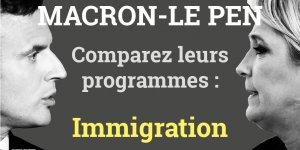 Immigration, Macron, Le Pen, programmes comparaison, présidentielle 2017, 2e tour, France,