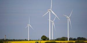 éolienne, énergie renouvelable, électricité, pollution,