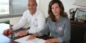 Clément et Caroline Mateu, DG et présidente d'Hexis