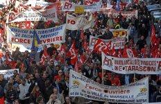 Manifestation anti-austérité force ouvrière