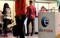 people are seen at the french pole emploi stand during the 20th forum de l'alternance in paris
