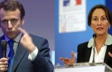 Le ministre de l'Économie Emmanuel Macron et la ministre de l'Écologie et de l'Environnement Ségolène Royal (montage)