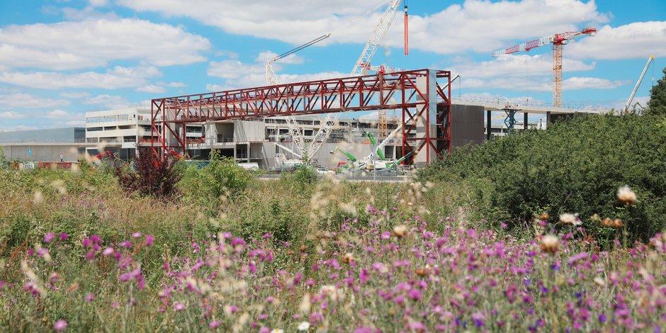 Le chantier du futur Pex est situé au nord-ouest de l'agglomération toulousaine, sur les communes de Beauzelle et de Aussonne.