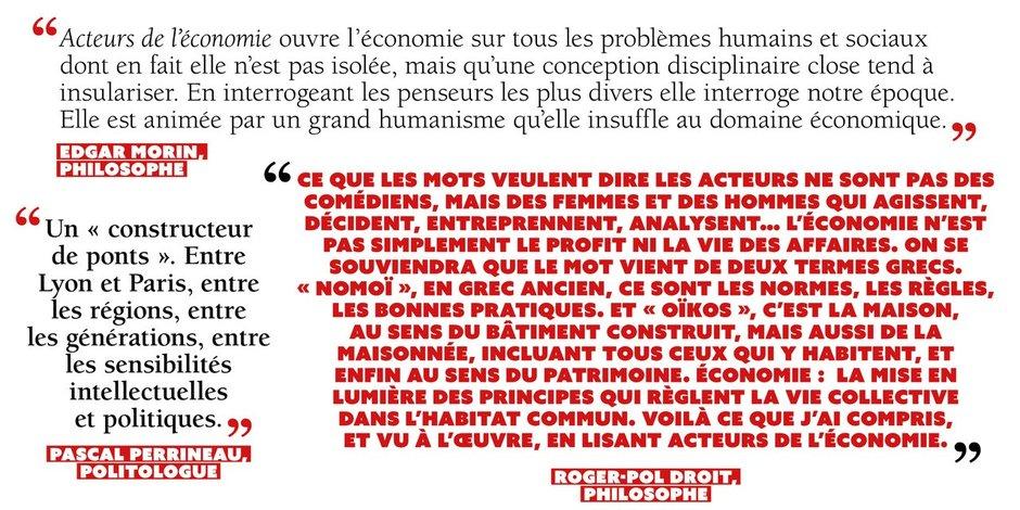 Edgar Morin, Pascal Perrineau, Roger-Pol Droit.