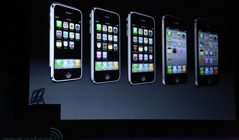 L'ensemble des anciens modèles d'iPhone depuis 2007