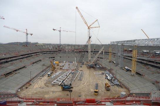Le stade de l'intérieur