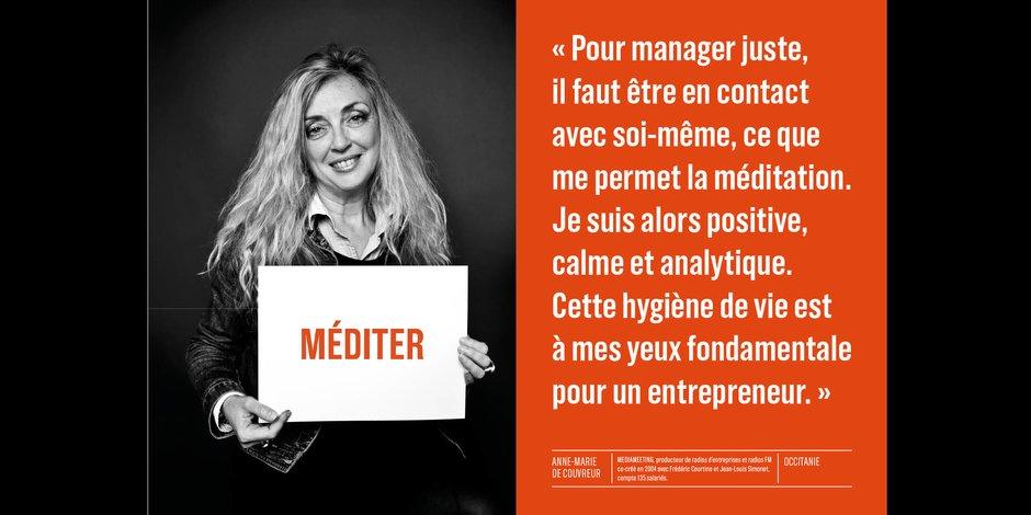 Anne-Marie Couvreur, co-créatrice de Médiameeting - Occitanie