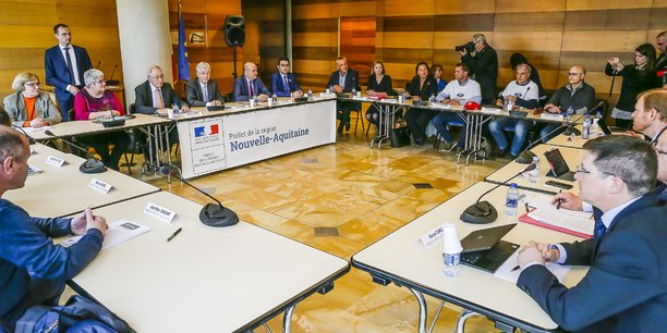 Lors du précédent comité de suivi à la préfecture de la Gironde.