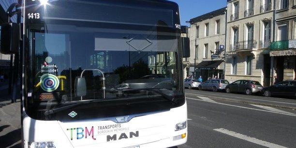 Un des bus MAN de la flotte de TBM (Transports Bordeaux Métropole) opérés par Kéolis Bordeaux et préparés par Parot.