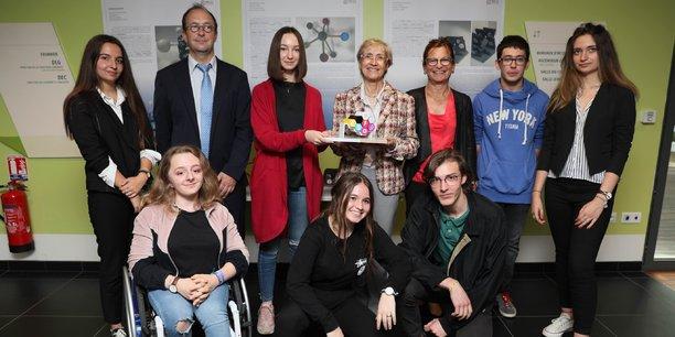 Enseignants et élèves du lycée Rive Gauche à Toulouse ont réalisé la mascotte de l'Esof 2018