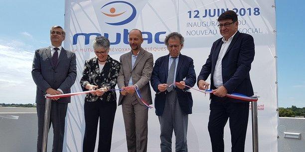B. Saguy et A. Barboteu (Mutac), T. Baudet (Mutualité Française), M. Lévita et J.-P. Rico (Métropole)