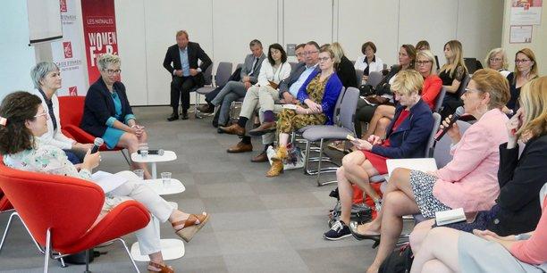 Matinale Women For Future le 6 juin à la Caisse d'Epargne Hauts de France avec Christine Goeury, membre du directoire en charge du pôle ressources et conduite du changement,  Claire Jolimont, cofondatrice de Ping Flow  et Sylvie Cheynel, dirigeante de Alter Eos.